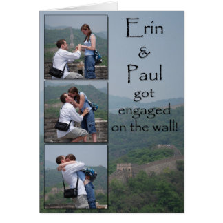 Erin & Paul - Save the Date Card