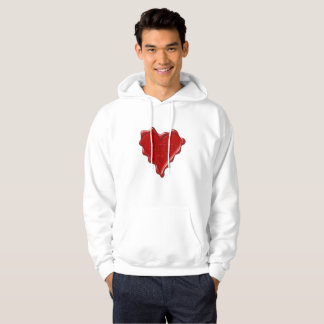 Erin. Red heart wax seal with name Erin Hoodie