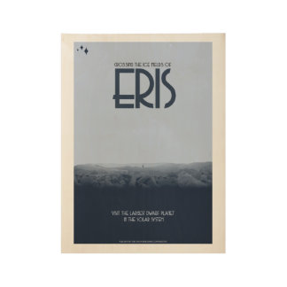 Eris Art Deco Space Posters Wood Poster