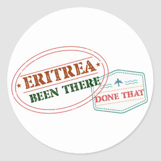 Eritrea Been There Done That Classic Round Sticker
