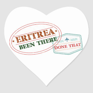 Eritrea Been There Done That Heart Sticker