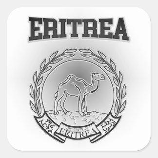 Eritrea Coat of Arms Square Sticker