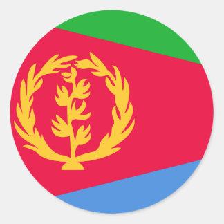 Eritrea Flag Classic Round Sticker
