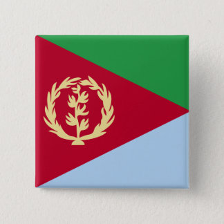 Eritrea High quality Flag 15 Cm Square Badge