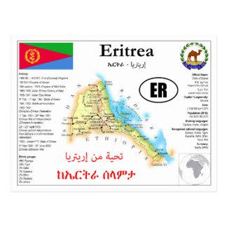 Eritrea map postcard