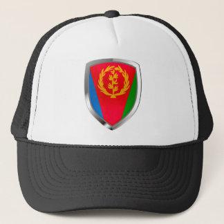 Eritrea Mettalic Emblem Trucker Hat