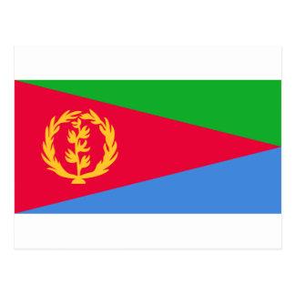 Eritrea National World Flag Postcard