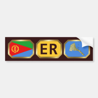Eritrean Flag Map Code Bumper Sticker