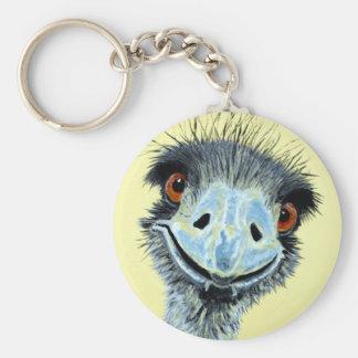 Ermintrude the Emu Basic Round Button Key Ring