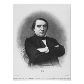 Ernest Renan after a photograph by Pierre Poster