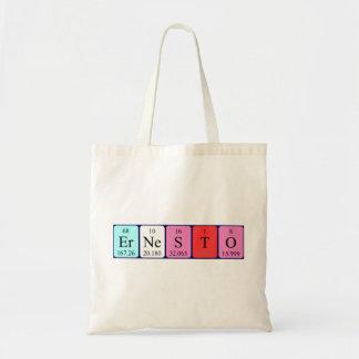 Ernesto periodic table name tote bag