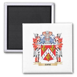 Erni Coat of Arms - Family Crest Square Magnet