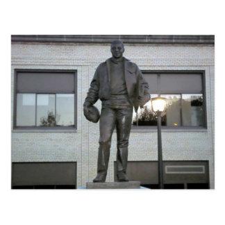 Ernie Davis Memorial Statue in Elmira, NY Postcard
