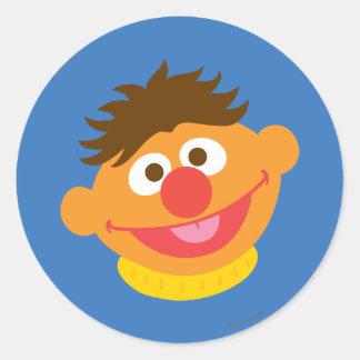 Ernie Face Classic Round Sticker