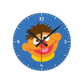 Ernie Face Round Clock