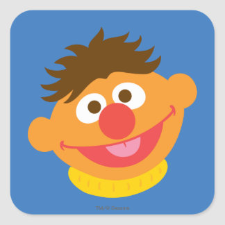 Ernie Face Square Sticker