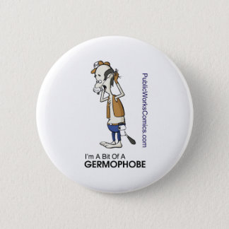 Ernie Germaphobe 6 Cm Round Badge