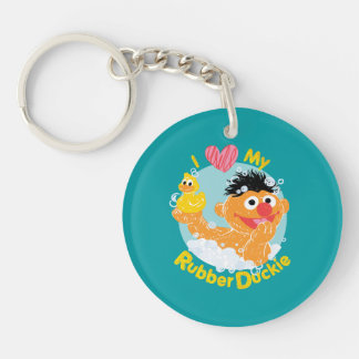 Ernie Loves Duckie Double-Sided Round Acrylic Key Ring