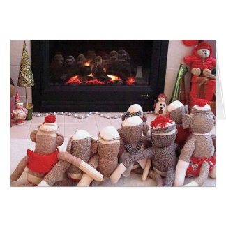 Ernie the Sock Monkey and Friends Holiday Card