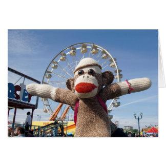 Ernie the Sock Monkey Ferris Wheel Note Card