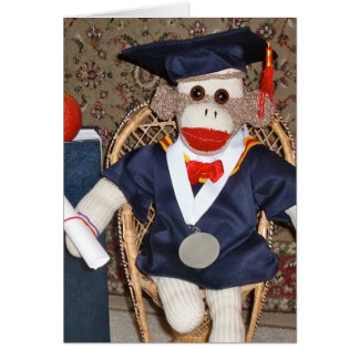 Ernie the Sock Monkey Graduation Card