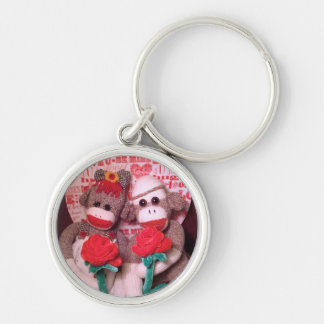 Ernie the Sock Monkey Love Keychain