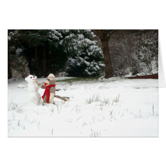 Ernie the Sock Monkey Snowday Holiday Card