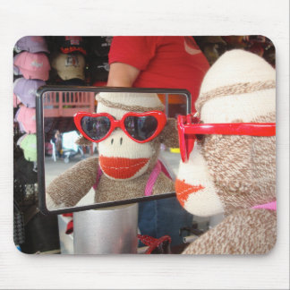 Ernie the Sock Monkey Sunglasses Mousepad