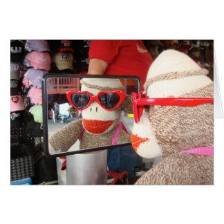 Ernie the Sock Monkey Valentine's Day Card