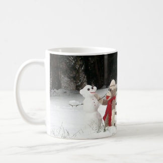Ernie the Sock Monkey Winter Snow Fun Mug