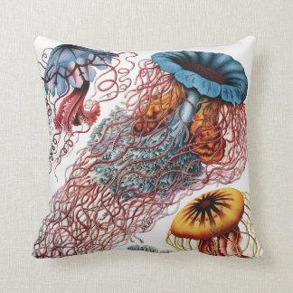 Ernst Haeckel Jellyfish Cushion