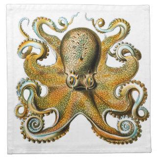 ernst haeckel octopus napkin
