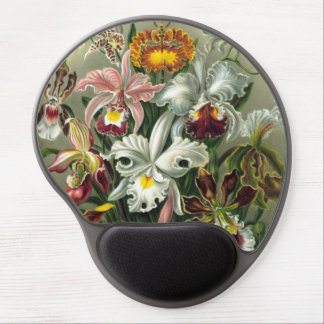 Ernst Haeckel Orchids, Vintage Rainforest Flowers Gel Mouse Pad