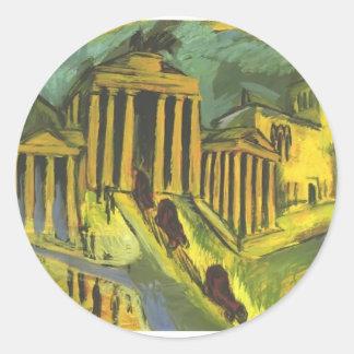 Ernst Ludwig Kirchner- Brandenburg Gate in Berlin Sticker