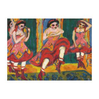 Ernst Ludwig Kirchner Czardas Dancers Canvas Print