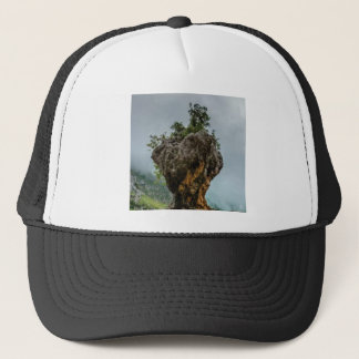 eroded balanced rock trucker hat
