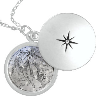 Eros And Psyche Soul Mates Cosmic Love Locket Necklace