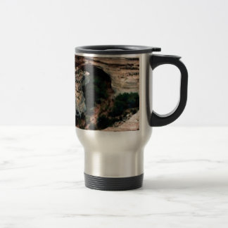 Erosion pockets in desert travel mug