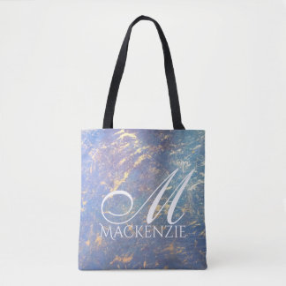 Erratic Chic | Name Soft Pastel Rainbow Watercolor Tote Bag
