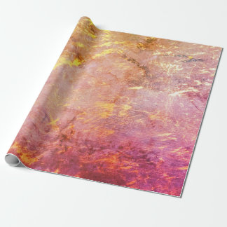 Erratic Party | Watercolor Pink Orange Gold Ombre Wrapping Paper
