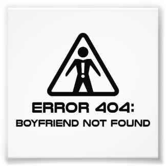 Error 404 Boyfriend Not Found Art Photo