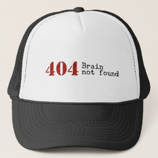 Error 404 Brain not found hat