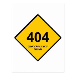 Error 404: Democracy Not Found Post Card