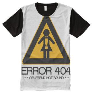 ERROR 404 – Girlfriend not found All-Over Print T-Shirt