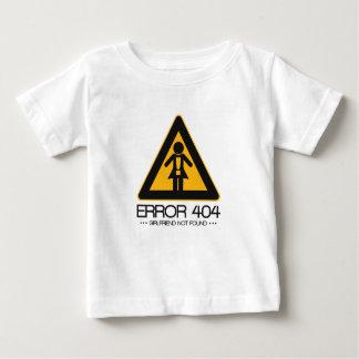 ERROR 404 – Girlfriend not found Baby T-Shirt