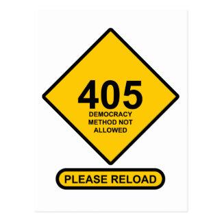 Error 405: Democracy Method Not Allowed Postcards