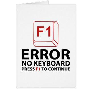 Error No Keyboard Press F1 To Continue Card