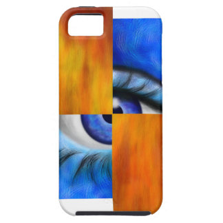 Ersebiossa V1 - hidden eye without back Tough iPhone 5 Case