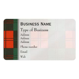 Erskine clan Plaid Scottish tartan Pack Of Standard Business Cards