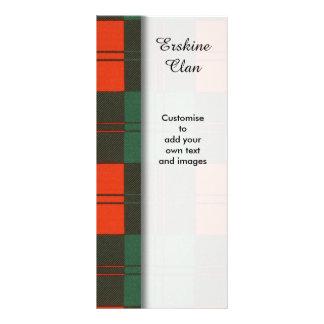 Erskine clan Plaid Scottish tartan Rack Card